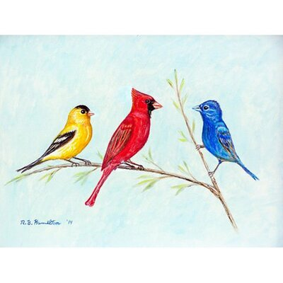 Three Birds Doormat Rug Size: Rectangle 26 x 42