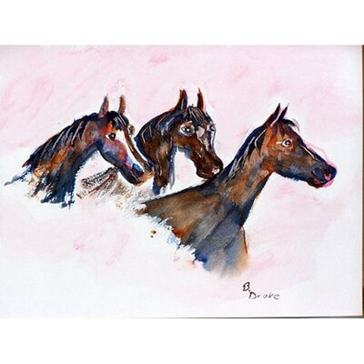 Three Horses Doormat Mat Size: Rectangle 16 x 22
