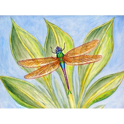 Dicks Dragonfly Doormat Mat Size: Rectangle 16 x 22