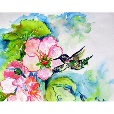 Hummingbird and Hibiscus Doormat Mat Size: Rectangle 16 x 22