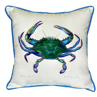 Male Crab Indoor/Outdoor Throw Pillow