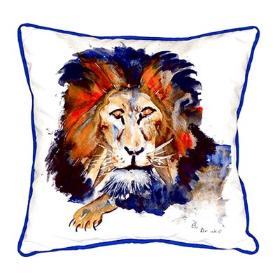 Lion Indoor/Outdoor Throw Pillow Size: Large