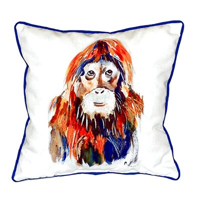 Orangutan Indoor/Outdoor Throw Pillow Size: Small