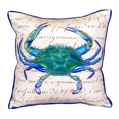 Male Crab Indoor/Outdoor Throw Pillow Size: Large