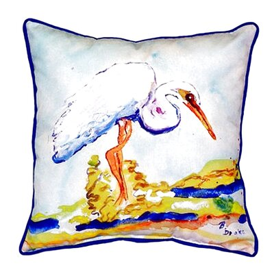 Egret Indoor/Outdoor Throw Pillow Size: Small