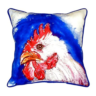 Rooster Head Indoor/Outdoor Throw Pillow