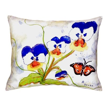 Pansies Indoor/Outdoor Lumbar Pillow