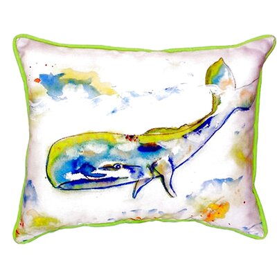 Whale Indoor/Outdoor Lumbar Pillow