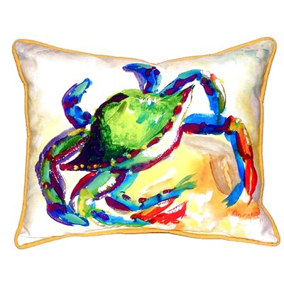 Crab Indoor/Outdoor Lumbar Pillow Size: Large