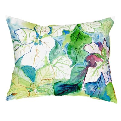 Poinsettia Indoor/Outdoor Lumbar Pillow
