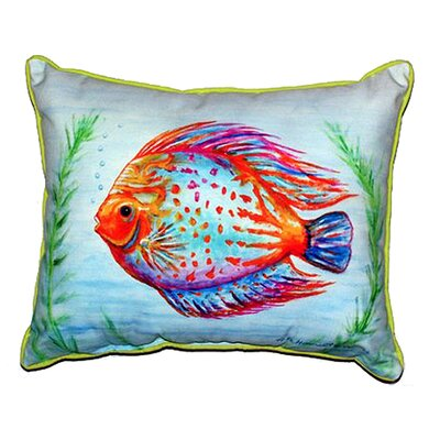 Fish Indoor/Outdoor Lumbar Pillow Size: Large