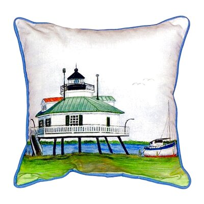 Hopper Strait Lighthouse Indoor/Outdoor Lumbar Pillow Size: Small