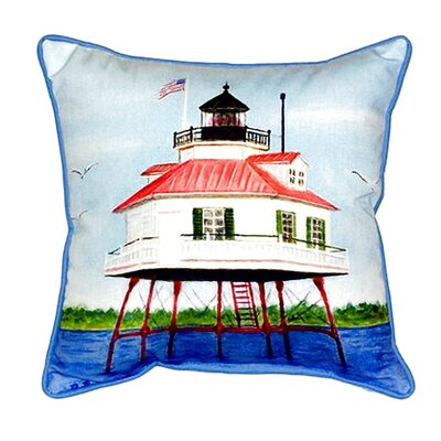 Drum Point Lighthouse Indoor/Outdoor Throw Pillow Size: Small