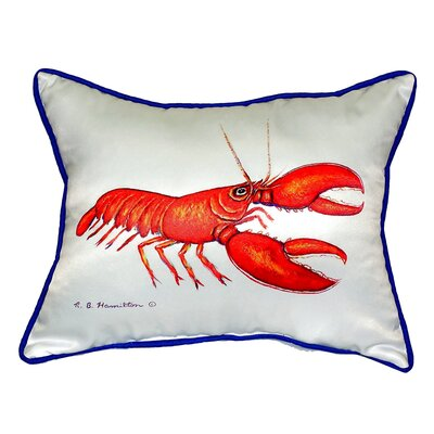 Lobster Indoor/Outdoor Lumbar Pillow Size: Small