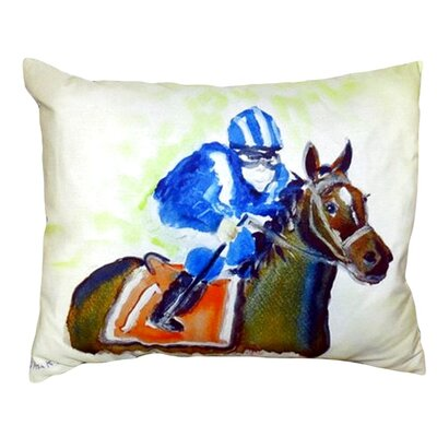 Horse & Jockey Indoor/Outdoor Lumbar Pillow