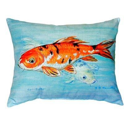 Koi Indoor/Outdoor Lumbar Pillow