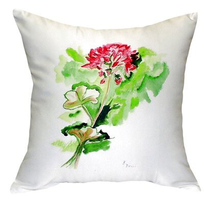 Geranium Indoor/Outdoor Throw Pillow