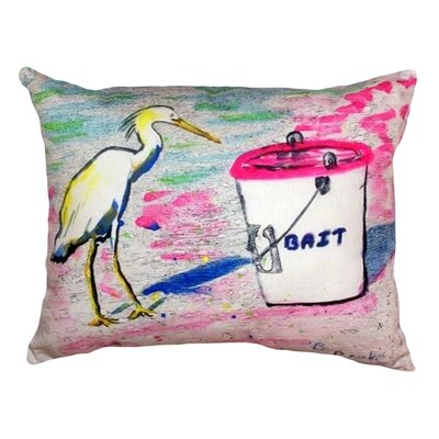 Hungry Egret Indoor/Outdoor Lumbar Pillow