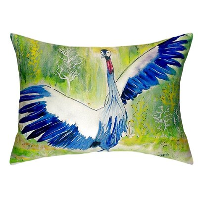 Dancing Crane Indoor/Outdoor Lumbar Pillow