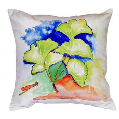 Ginko Leaves Indoor/Outdoor Throw Pillow