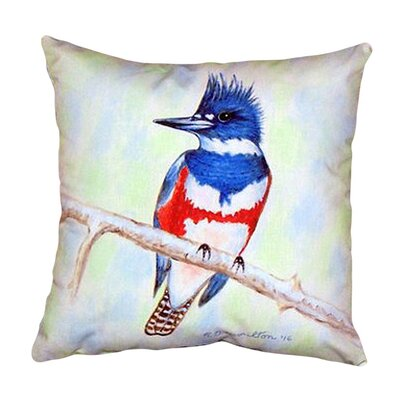 Kingfisher Indoor/Outdoor Throw Pillow