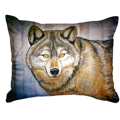 Wolf Indoor/Outdoor Lumbar Pillow