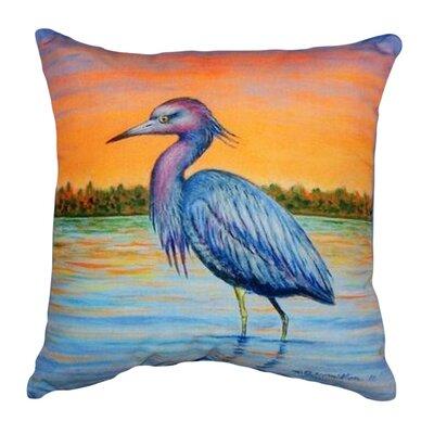Heron & Sunset Indoor/Outdoor Throw Pillow