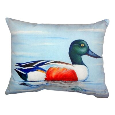 Northern Shoveler Indoor/Outdoor Lumbar Pillow