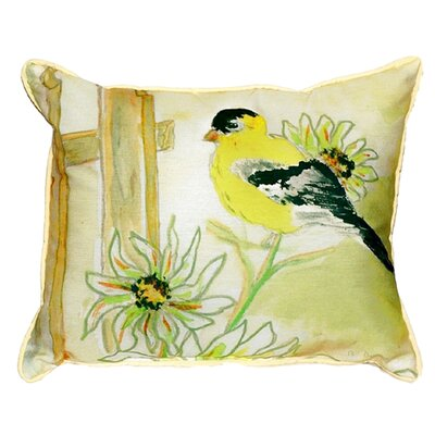 Goldfinch Indoor/Outdoor Lumbar Pillow Size: Small