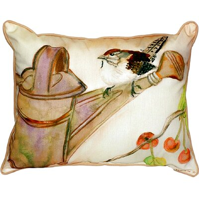 Carolina Wren Indoor/Outdoor Lumbar Pillow Size: Small