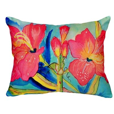 Amaryllis Indoor/Outdoor Lumbar Pillow