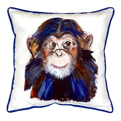 Chimpanzee Indoor/Outdoor Throw Pillow Size: Small