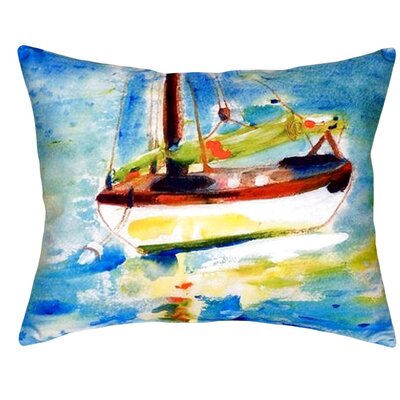 Sailboat Indoor/Outdoor Lumbar Pillow