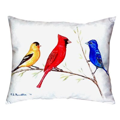 Three Birds Indoor/Outdoor Lumbar Pillow