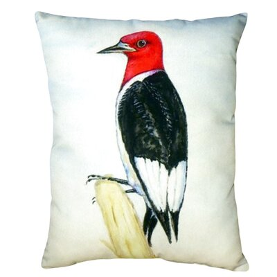 Redheaded Woodpecker Indoor/Outdoor Lumbar Pillow