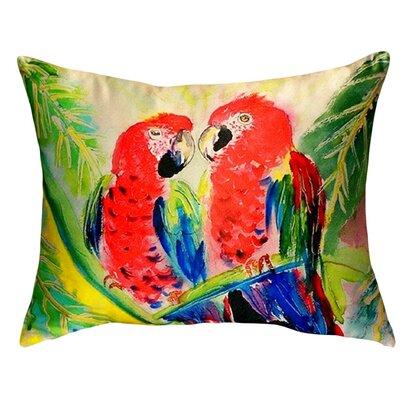 Two Parrots Indoor/Outdoor Lumbar Pillow