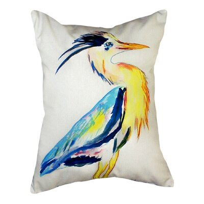 Vertical Heron Indoor/Outdoor Lumbar Pillow