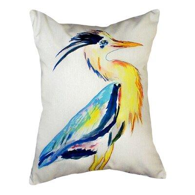 Vertical Heron Indoor/Outdoor Lumbar Pillow