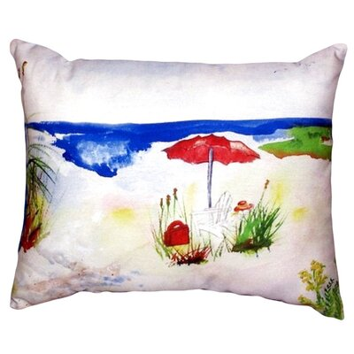 Beach Umbrella Indoor/Outdoor Lumbar Pillow