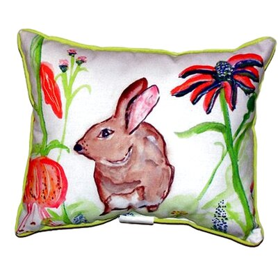 Rabbit Indoor/Outdoor Lumbar Pillow Size: Small
