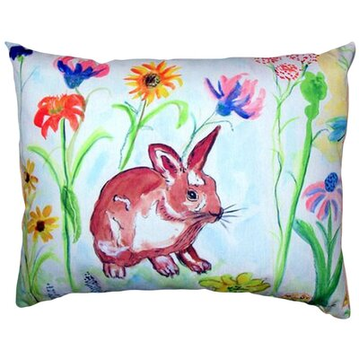 Whiskers Bunny Indoor/Outdoor Lumbar Pillow
