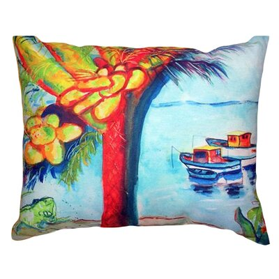 Cocoa Nuts and Boats Indoor/Outdoor Throw Pillow