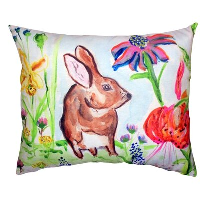 Rabbit Indoor/Outdoor Lumbar Pillow