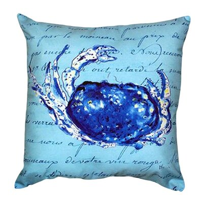 Script Crab Indoor/Outdoor Throw Pillow