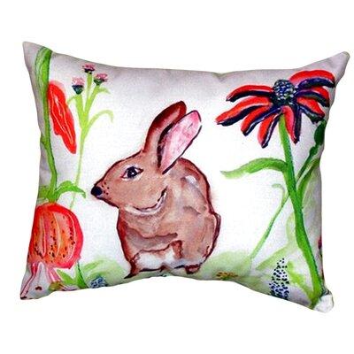 Rabbit Indoor/Outdoor Lumbar Pillow