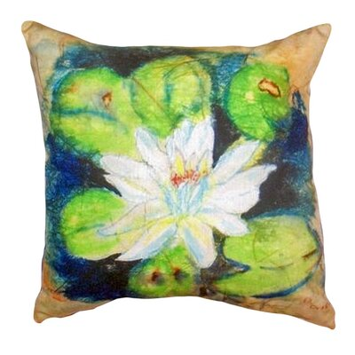Water Lily on Rice Indoor/Outdoor Throw Pillow