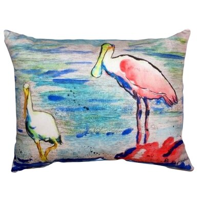 Spoonbill & Ibis Indoor/Outdoor Lumbar Pillow