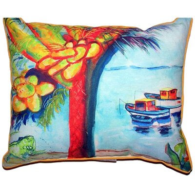 Cocoa Nuts and Boats Indoor/Outdoor Throw Pillow Size: Large