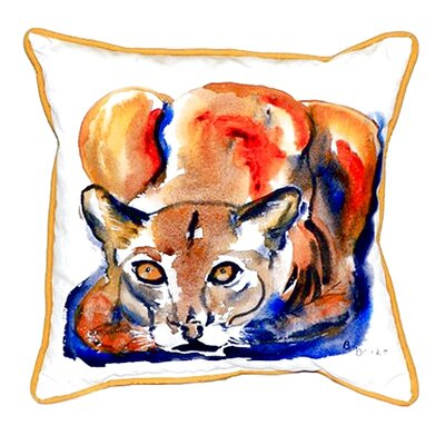 Cougar Indoor/Outdoor Throw Pillow Size: Large