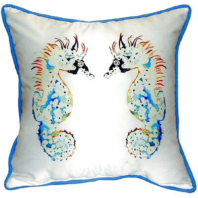 Seahorses Indoor/Outdoor Throw Pillow Size: Large